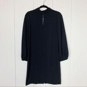 Zara Cold Shoulder Long Sleeve Black Dress Small